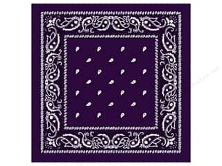 Darice Bandana 22&quot;x 22&quot; Paisley Purple