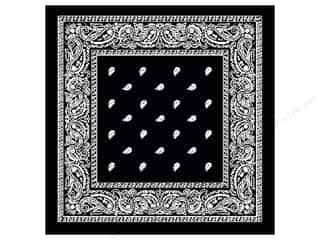 Darice Bandana 22&quot;x 22&quot; Paisley Black