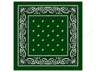 Darice Bandana 22 x 22 in. Hunter Green Paisley