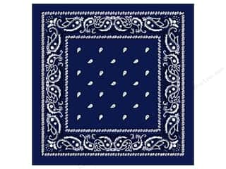 Scarf / Scarves: Darice Bandana 22 x 22 in. Royal Blue Paisley