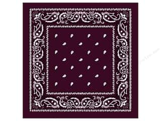 Fabric Painting & Dying: Darice Bandana 22 x 22 in. Burgundy Paisley
