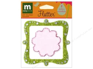 Medium Density Fiberboard (MDF) Shapes: Making Memories Stkr Flutter Glitter Bling Shapes