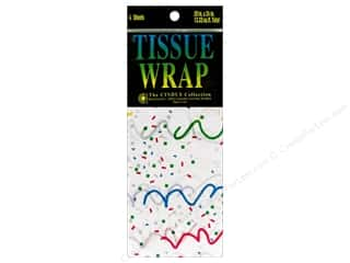 Cindus Tissue Wrap 20x20 Printed Party Ribbons 4pc