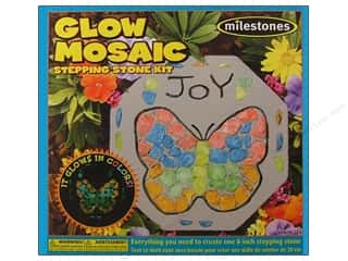 stepping stone Milestones: Milestones Kit Stepping Stone Mosaic Glow Oct 8&quot;