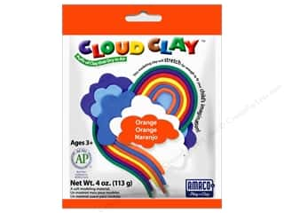 Clay & Modeling New: AMACO Cloud Clay 4 oz. Orange