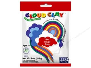 Clay & Modeling New: AMACO Cloud Clay 4 oz. Red