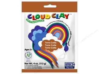 Clay & Modeling New: AMACO Cloud Clay 4 oz. Terra Cotta