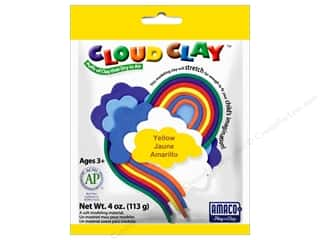 Weekly Specials Perler Beads: AMACO Cloud Clay 4 oz. Yellow