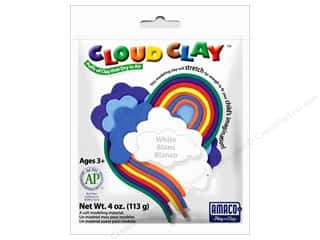 Clay & Modeling New: AMACO Cloud Clay 4 oz. White