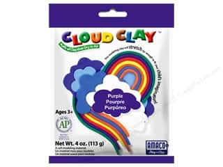 Clay & Modeling New: AMACO Cloud Clay 4 oz. Purple