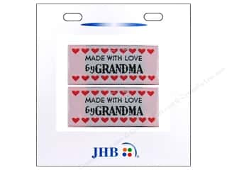 JHB Sweetheart Labels Made w/Love by Grandma 2pc