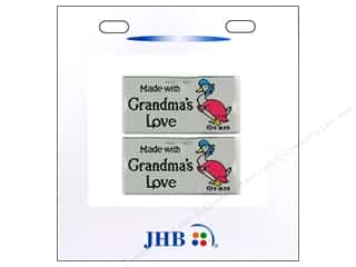 JHB Sweetheart Labels Made with Grandma&#39;s Love 2pc