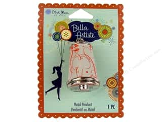 Blue Moon Pendants Bella Artiste Metal Thimble Print C Silver