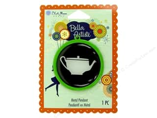 Blue Moon Pendants Bella Artiste Metal/Enamel Round Teapot Green