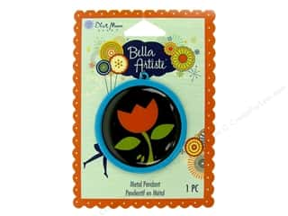 Blue Moon Pendants Bella Artiste Metal/Enamel Round Tulip Blue