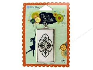 Blue Moon Pendants Bella Artiste Metal Frame Rectangle Decorative Antique Silver