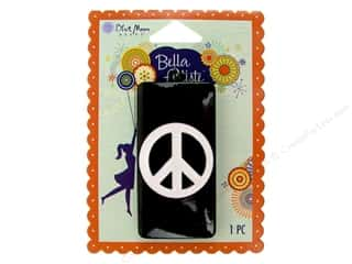 Blue Moon Pendants Bella Artiste Metal/Enamel Rectangle Peace Black