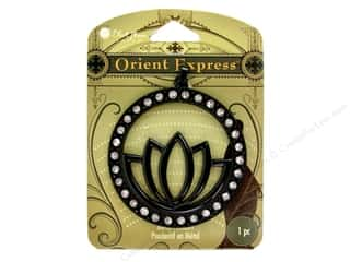 Clearance Blue Moon Pendant: Blue Moon Pendant OE Metal Lotus Black
