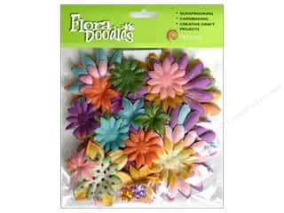 Petaloo FloraDoodles Daisy Layers Lg Glit Pastels