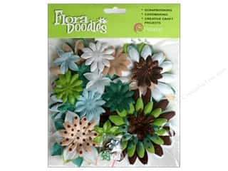 Petaloo FloraDoodles Daisy Layers Lg Glit By/Sea