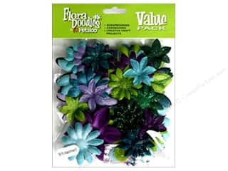 Flowers / Blossoms Petaloo FloraDoodles: Petaloo FloraDoodles Daisy Layers Large Glitter Cool