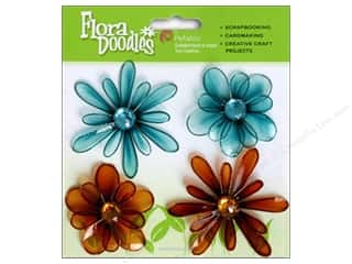 Petaloo FloraDoodles Candies Teal/Brown 4pc