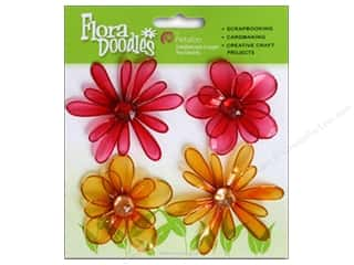 Petaloo FloraDoodles Candies Red/Orange 4pc