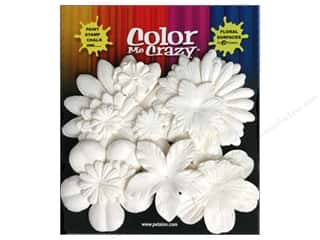 Petaloo Color Me Flower Layers White 60pc