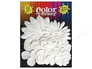 Clearance Petaloo Color Me Crazy: Petaloo Color Me Flower Layers Assorted White 16pc