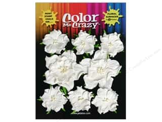 Petaloo Color Me Flower Wild Rose White 8pc