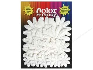 Petaloo Color Me Flower Embossed Daisy White 18pc