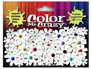 Flowers / Blossoms Petaloo Color Me Crazy: Petaloo Color Me Florettes Jeweled Multi White
