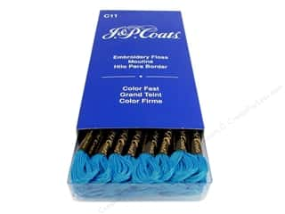 Yarn & Needlework Floss: J & P Coats Six-Strand Embroidery Floss #7008 Light Imperial Blue (24 skeins)