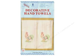 Jack Dempsey Decorative Hand Towel Cream Rooster