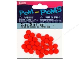 Darice Pom Poms 7mm Red 30pc (3 packages)