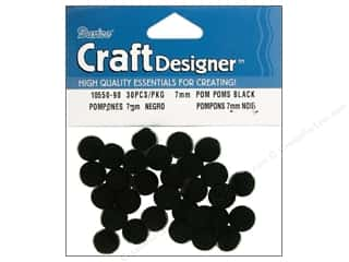 Darice Pom Poms 7mm Black 30pc (3 packages)