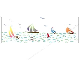 "StenSource Painting Stencil 5"" Sailboats Border"