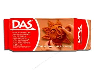 Clay & Modeling Children: DAS Air-Hardening Clay 1.1lb Terracotta