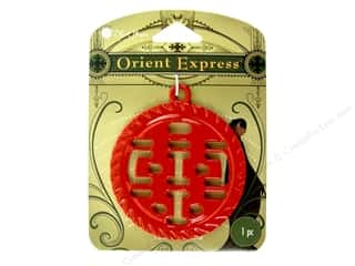 Blue Moon Pendant OE Metal Double Happiness Red