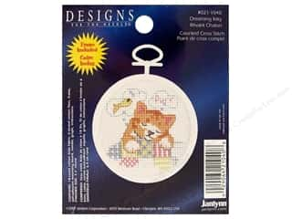 Janlynn Cross Stitch Kit 2.5&quot; Round Dream Kitty