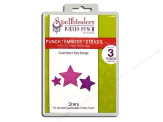 Spellbinders Presto Punch Template Stars