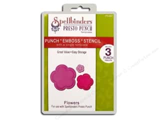 Spellbinders Presto Punch Template Flowers