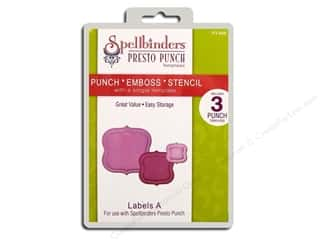 Spellbinders Presto Punch Template Labels A