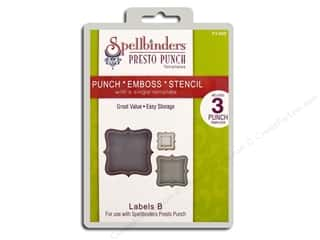 Spellbinders Presto Punch Template Labels B