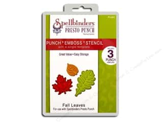 Spellbinders Presto Punch Template Fall Leaves