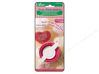 pom pom maker: Clover Pom Pom Maker Heart Shape Large