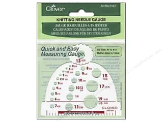 Clover Size: Clover Knitting Needle Gauge Size #0 to #19