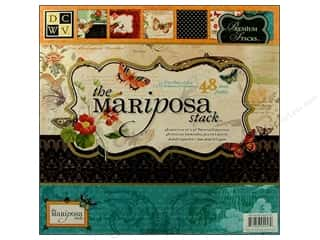 Paper Accents Burgundy: Die Cuts With A View 12 x 12 in. Paper Stack Mariposa