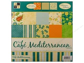 Papers: DieCuts 12 x 12 in. Paper Stack Cafe Mediterranean