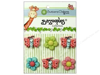 Bazooples Blue: Buttons Galore Button BaZooples Sets Flutterbugs & Flowers